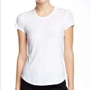James Perse White Crew Neck Short Sleeve T-Shirt XL